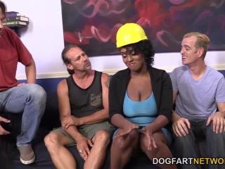 Порно видео черных девушек с большими сиськами в чулках - анал ебут